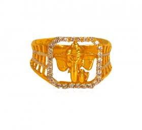 22k Ganesha Men Ring