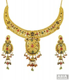 Exclusive Meenakari Necklace Set ( 22K Gold Necklace Sets )