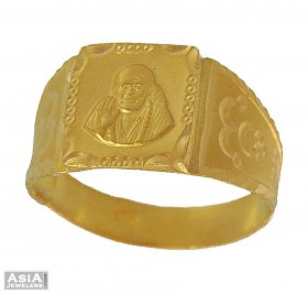 22kt Gold Saibaba Ring ( Gold Religious Rings )