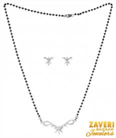 18K White Gold Mangalsutra Set ( Gold Mangalsutra Sets )