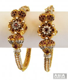 Ruby Pakistani Antique Kada (1 Pc only)