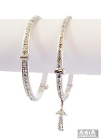 Indian White Gold Bangle(1 Pc)