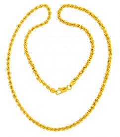 22K Rope Chain (20 Inch)