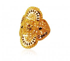 Traditional Meena 22K Ring ( 22K Gold Rings )
