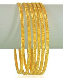 22 Karat Gold Bangles Set (6 PCs)