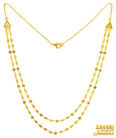 22K Gold Double layers Chain ( Gold Fancy Chains )