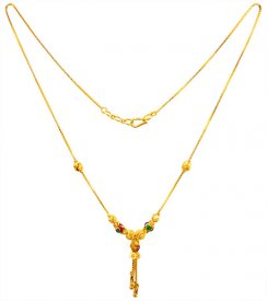 22kt Gold Dokia Chain for Girls ( Gold Fancy Chains )
