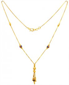 22kt Gold Fancy Meenakari Chain ( Gold Fancy Chains )