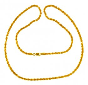 22kt Gold Rope Chain 24inch