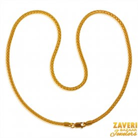 22 Karat Gold Chain (16 inch) ( Plain Gold Chains )