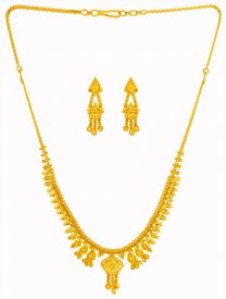 22Kt Gold Necklace Set ( 22K Light Necklace Sets )