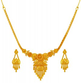 22K Gold Necklace Set ( 22K Light Necklace Sets )
