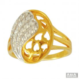 22K Fancy Oval Shaped Ring