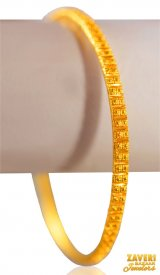 22K Gold Filigree  Bangle (1Pc) ( 22K Gold Bangles )