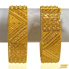 Fancy Filigree 22 Karat Gold Kadas