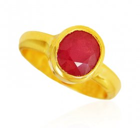 22 Karat Gold Ruby Ring