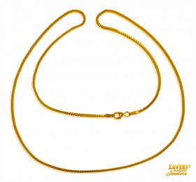 22 Kt Gold Plain Chain
