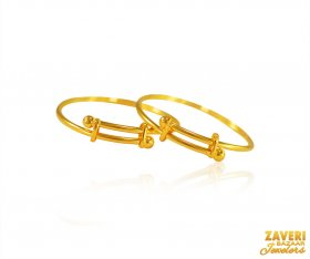 22k Gold Kids Bangles (2PC) ( Baby Bangles )