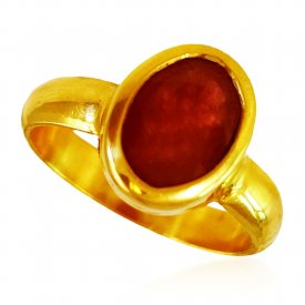 22KT Gold Ruby Ring ( Gemstone Rings )