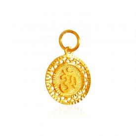 22k gold gold pendants gold om pendants in range us 200 to 22kt gold om pendant aloadofball Image collections