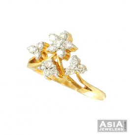 Diamond ring in 18k gold ( Diamond Rings (Ladies) )