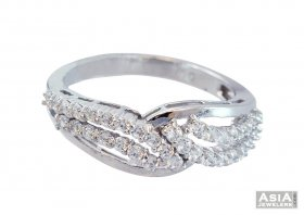 Designer 18K Fancy White Gold Ring  ( White Gold Rings )