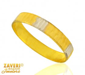 22 kt Gold Two Tone Band