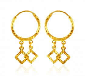 Gold Hoops (22kt Gold) ( 22K Gold Hoops )