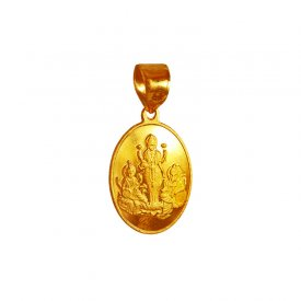 22K Gold Laxmi Reversible Pendant ( Ganesh, Laxmi, Krishna and more )