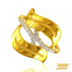 22 Kt Gold Fancy Ring ( Stone Rings )