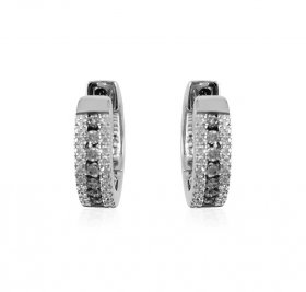 18K White Gold Diamond clipons ( Diamond Earrings )