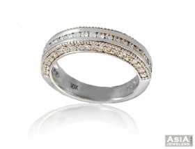 Designer Mens Diamond Band 18K