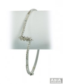 Indian 18K White Gold Bangle ( Gold CZ Bangles )
