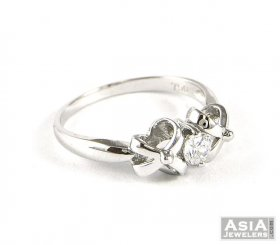 18K Gold Designer Ring ( White Gold Rings )