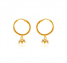 22 Karat Gold Hoops Earrings ( 22K Gold Hoops )