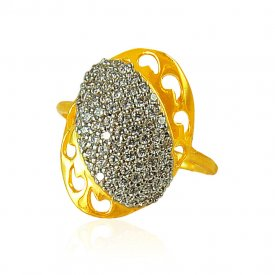 22karat Gold Ladies CZ Ring