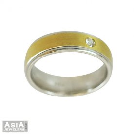 Diamond Mens Wedding Band(18k)