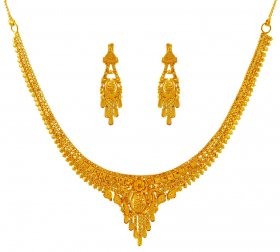 Necklace Set 22K Gold ( 22K Light Necklace Sets )