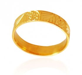 22k Gold band with Lazer cuts ( Gold Wedding Bands )