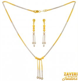 22k Gold Fancy Necklace Set ( 22K Light Necklace Sets )
