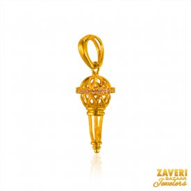22K Gold Hanuman Gada Pendant ( Gold Fancy Pendants )