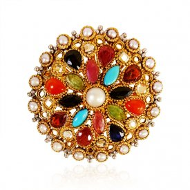 22kt Gold Precious Stones Ring ( Gemstone Rings )