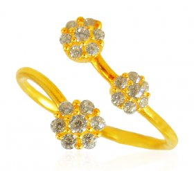 22karat Gold Ring with CZ ( Stone Rings )