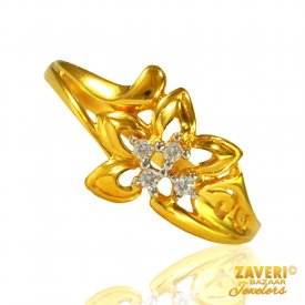 22 KT Gold fancy ring for ladies ( Stone Rings )
