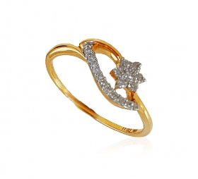 18kt YellowGold Diamond Ladies Ring ( Diamond Rings (Ladies) )