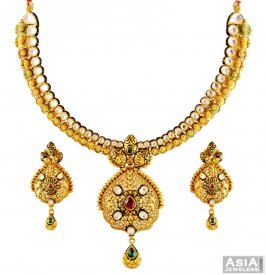 22k Antique Gold Set  ( 22K Antique Necklace Sets )