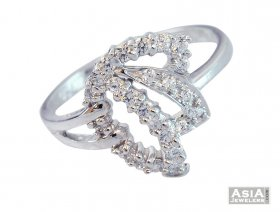 18K White Gold Floral Ring ( White Gold Rings )