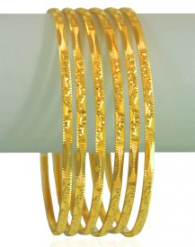 22Kt Gold Bangles (Set of 6)