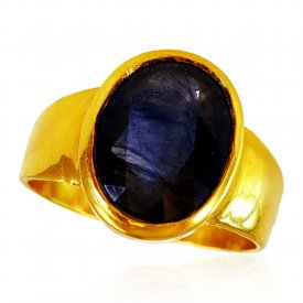 22kt Gold Blue Sapphire Ring