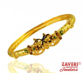 22 KT Gold Peacock Kada (1pc)